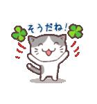 猫と四つ葉のクローバー(個別スタンプ:38)