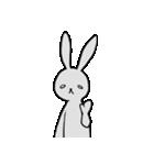 ネガティブ兎(個別スタンプ:02)