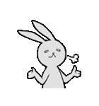 ネガティブ兎(個別スタンプ:03)