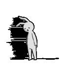 ネガティブ兎(個別スタンプ:12)