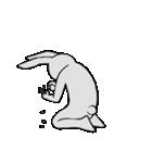 ネガティブ兎(個別スタンプ:18)
