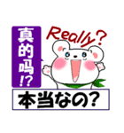 中国語(簡体字)と日本語と英語をしゃべる熊(個別スタンプ:8)