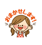 かわいい主婦の1日【敬語編】(個別スタンプ:10)