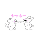 鼻デカウサギと仲間達(個別スタンプ:03)