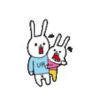 ウサギのウーのちっちゃい子とあそぼ(個別スタンプ:02)