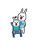 ウサギのウーのちっちゃい子とあそぼ(個別スタンプ:16)