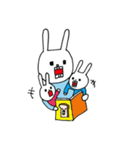 ウサギのウーのちっちゃい子とあそぼ(個別スタンプ:30)
