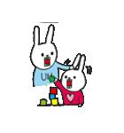 ウサギのウーのちっちゃい子とあそぼ(個別スタンプ:34)
