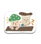 ぺたんこシール〜森のなかまたち〜(個別スタンプ:34)