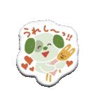 ぺたんこシール〜森のなかまたち〜(個別スタンプ:36)