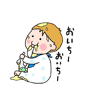 国際結婚家族スタンプ(育児-男児編)(個別スタンプ:05)