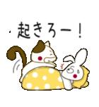 小生意気な白うさとぶちネコ2(個別スタンプ:1)