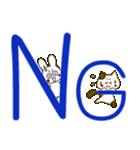 小生意気な白うさとぶちネコ2(個別スタンプ:8)