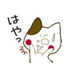 小生意気な白うさとぶちネコ2(個別スタンプ:35)
