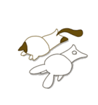 小生意気な白うさとぶちネコ2(個別スタンプ:40)