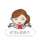 スポーツ応援ママ (日本語版)(個別スタンプ:17)