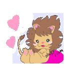 ライオンママ&ベイビーライオン(個別スタンプ:22)