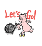 Let's Boo! ブタさん(個別スタンプ:02)