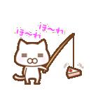 スポーツする白い猫 2(個別スタンプ:10)