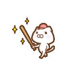 スポーツする白い猫 2(個別スタンプ:33)