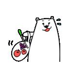 フサフサマユゲのしろくまさん ママ版(個別スタンプ:08)