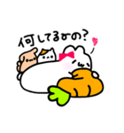 Merry家 ぽっちゃりうさぎとネコと犬(個別スタンプ:36)