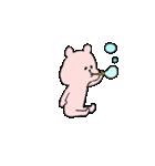 小さい桃色くま(個別スタンプ:21)