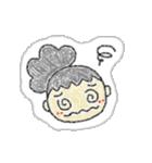 シール調 女子(個別スタンプ:09)