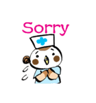 Get well soon with sparrow nurse(個別スタンプ:06)
