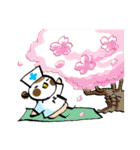 Get well soon with sparrow nurse(個別スタンプ:08)
