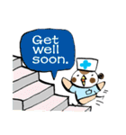 Get well soon with sparrow nurse(個別スタンプ:17)