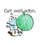 Get well soon with sparrow nurse(個別スタンプ:26)