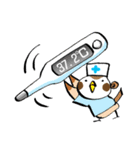 Get well soon with sparrow nurse(個別スタンプ:27)