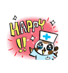 Get well soon with sparrow nurse(個別スタンプ:28)