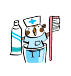 Get well soon with sparrow nurse(個別スタンプ:35)