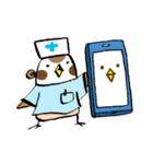 Get well soon with sparrow nurse(個別スタンプ:37)