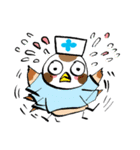 Get well soon with sparrow nurse(個別スタンプ:39)