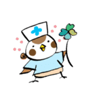 Get well soon with sparrow nurse(個別スタンプ:40)