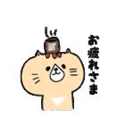 フサフサマユゲのネコさん(個別スタンプ:01)