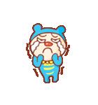 青いクマ『コロ』のスタンプ