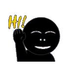 黒のフェイス(個別スタンプ:7)