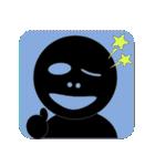 黒のフェイス(個別スタンプ:11)