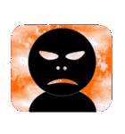 黒のフェイス(個別スタンプ:12)