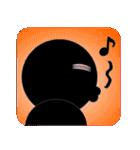 黒のフェイス(個別スタンプ:15)