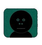 黒のフェイス(個別スタンプ:21)