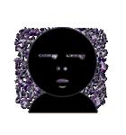 黒のフェイス(個別スタンプ:24)