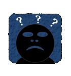 黒のフェイス(個別スタンプ:26)