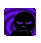 黒のフェイス(個別スタンプ:28)