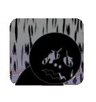 黒のフェイス(個別スタンプ:30)