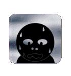 黒のフェイス(個別スタンプ:32)